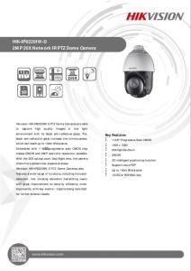 HIK-IP8220IW-D 2MP 20X Network IR PTZ Dome Camera