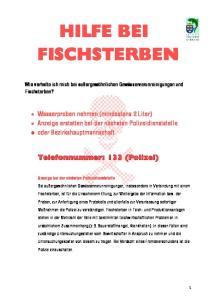 HILFE BEI FISCHSTERBEN