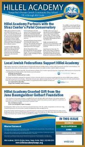 Hillel Academy Granted Gift from the June Baumgardner Gelbart Foundation