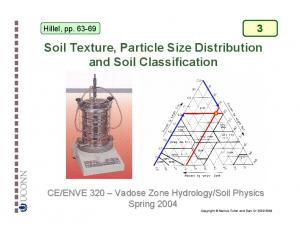 Hillel, pp Soil Texture, Particle Size Distribution and Soil Classification