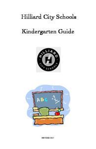 Hilliard City Schools. Kindergarten Guide