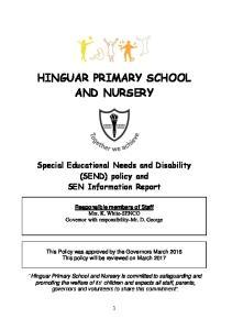 HINGUAR PRIMARY SCHOOL AND NURSERY