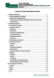 Hinweise zur Anfertigung zivilrechtlicher Hausarbeiten