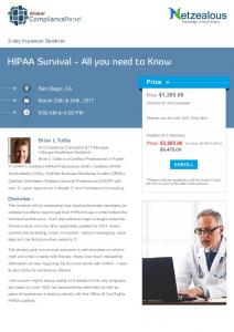HIPAA Survival - All you need to Know