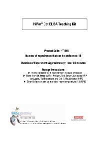 HiPer Dot ELISA Teaching Kit