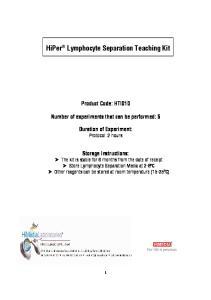 HiPer Lymphocyte Separation Teaching Kit
