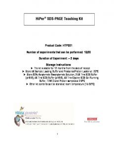 HiPer SDS-PAGE Teaching Kit