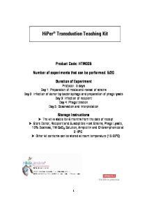 HiPer Transduction Teaching Kit