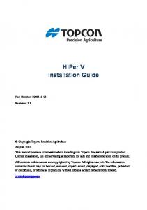HiPer V Installation Guide