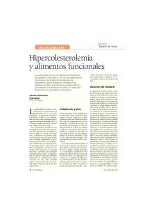 Hipercolesterolemia y alimentos funcionales