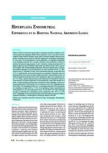 HIPERPLASIA ENDOMETRIAL EXPERIENCIA EN EL HOSPITAL NACIONAL ARZOBISPO LOAYZA