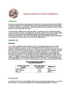 Hipertension Arterial en la Infancia y la Adolescencia