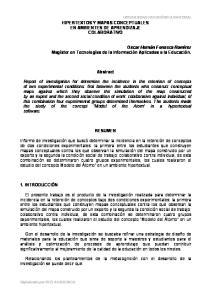 HIPERTEXTOS Y MAPAS CONCEPTUALES EN AMBIENTES DE APRENDIZAJE COLABORATIVO. Abstract