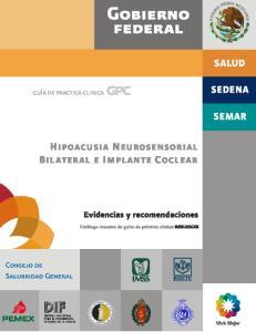 HIPOACUSIA NEUROSENSORIAL BILATERAL E IMPLANTE COCLEAR