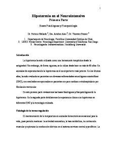 Hipotermia en el Neurointensivo Primera Parte