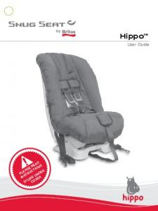 Hippo. User Guide PLEASE READ INSTRUCTIONS STORE UNDER COVER