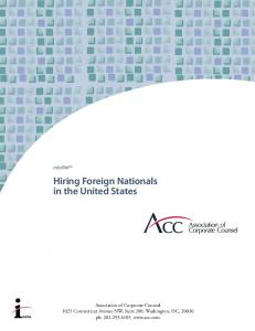 Hiring Foreign Nationals in the United States
