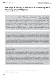 Histological findings in women with postmenopausal bleeding: Jordanian figures