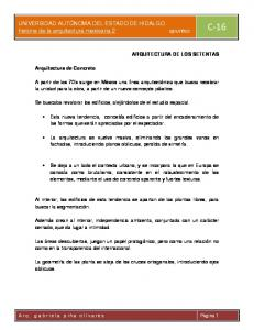 historia de la arquitectura mexicana 2 apuntes C 16