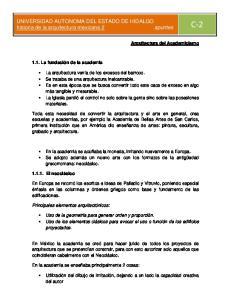 historia de la arquitectura mexicana 2 apuntes C 2