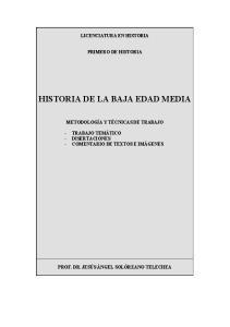 HISTORIA DE LA BAJA EDAD MEDIA