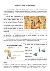 HISTORIA DE LA BALANZA