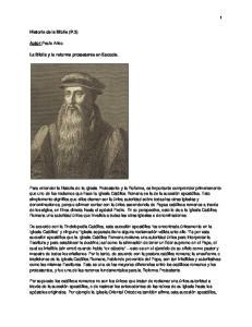 Historia de la Biblia (P.3) Autor:Paulo Arieu. La Biblia y la reforma protestante en Escocia