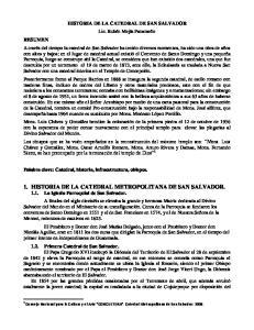 HISTORIA DE LA CATEDRAL DE SAN SALVADOR