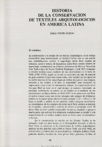 HISTORIA DE LA CONSERVACION DE TEXTILES ARQUEOLOGICOS EN AMERICA LATINA