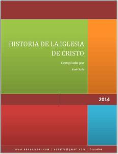 HISTORIA DE LA IGLESIA DE CRISTO