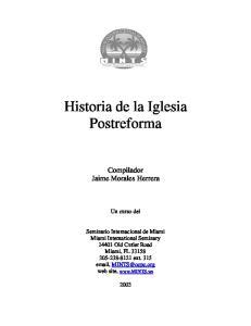 Historia de la Iglesia Postreforma