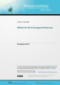 Historia de la lengua francesa