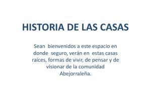 HISTORIA DE LAS CASAS