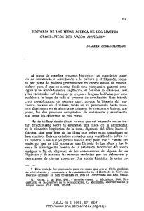 HISTORIA DE LAS IDEAS ACERCA DE LOS LIMITES
