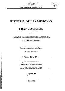 HISTORIA DE LAS MISIONES FRANCISCANAS