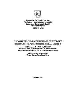 HISTORIA DE LOS MEDIOS IMPRESOS VENEZOLANOS