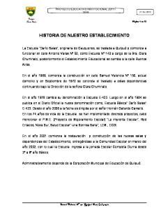HISTORIA DE NUESTRO ESTABLECIMIENTO