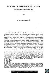 HISTORIA DE SAN CINES DE LA JARA