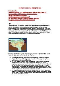 HISTORIA DE UNA RESISTENCIA