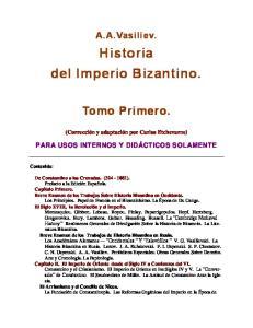 Historia dei Imperio Bizantino