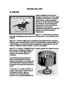 HISTORIA DEL CINE EL PRECINE