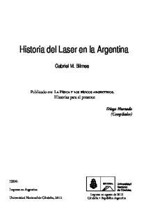 Historia del Laser en la Argentina