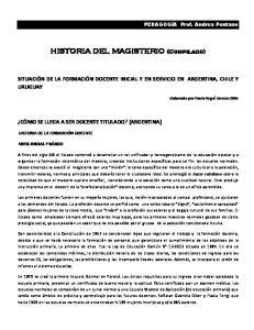 HISTORIA DEL MAGISTERIO (Compilado)