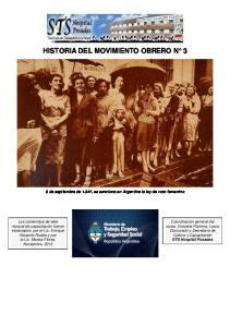 HISTORIA DEL MOVIMIENTO OBRERO N 3