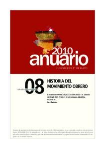 HISTORIA DEL MOVIMIENTO OBRERO. selección de contenidos