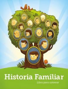 Historia Familiar. Libro para colorear