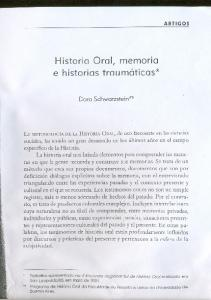 Historia Oral memoria