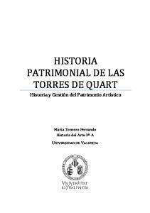 HISTORIA PATRIMONIAL DE LAS TORRES DE QUART