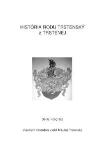 HISTÓRIA RODU TRSTENSK z TRSTENEJ