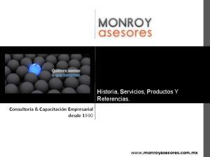 Historia, Servicios, Productos Y Referencias